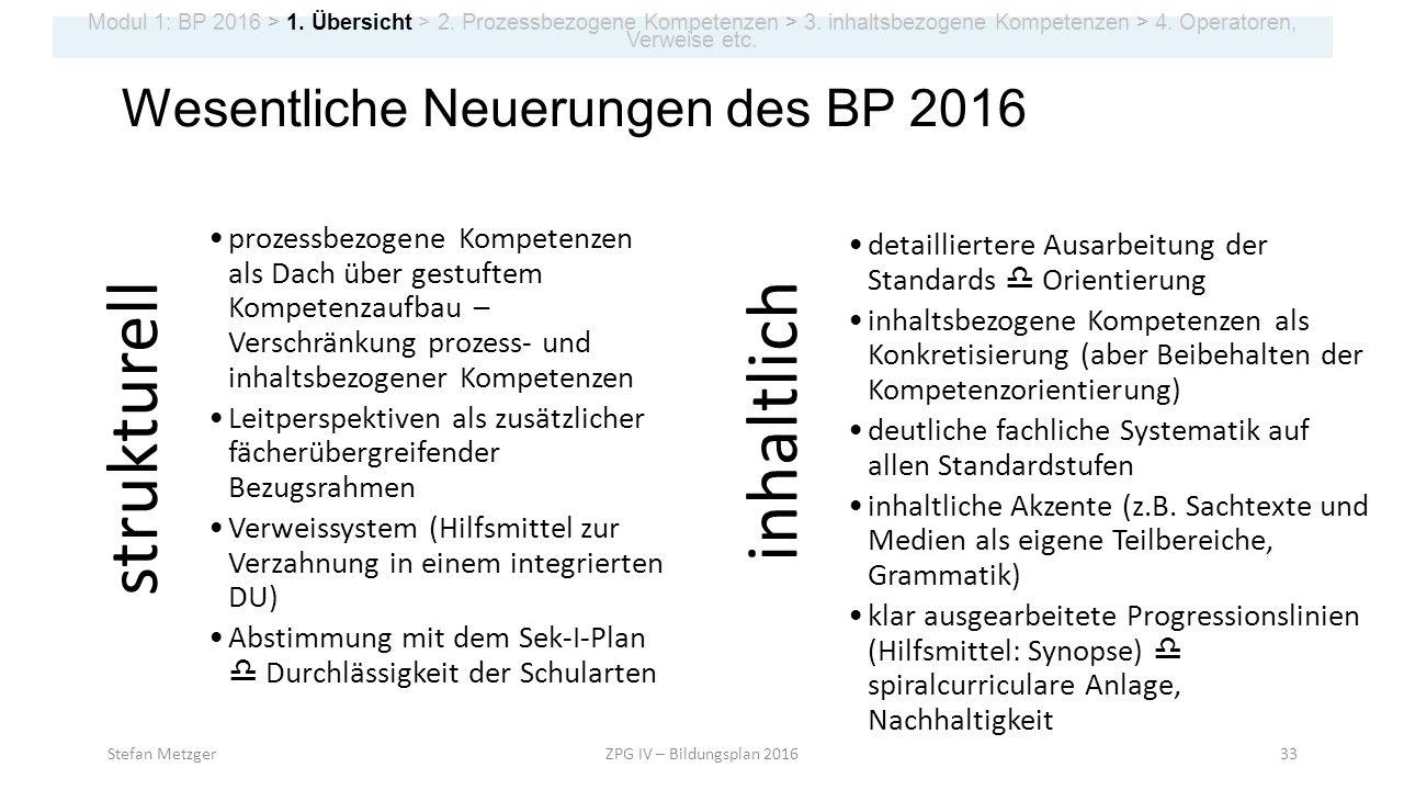 Stefan MetzgerZPG IV – Bildungsplan 201633 Modul 1: BP 2016 > 1. Übersicht > 2. Prozessbezogene Kompetenzen > 3. inhaltsbezogene Kompetenzen > 4. Oper