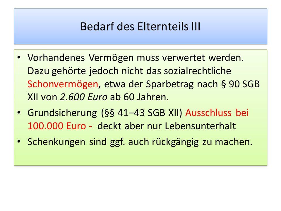 Selbstbehalt – Düsseldorfer Tabelle Die Leitlinien der Oberlandesgerichte definieren den Selbstbehalt des Schuldners gegenüber den Eltern mit mindestens 1.600 Euro (einschließlich Kosten für Unterkunft und Heizung) (ab 1.1.2013).
