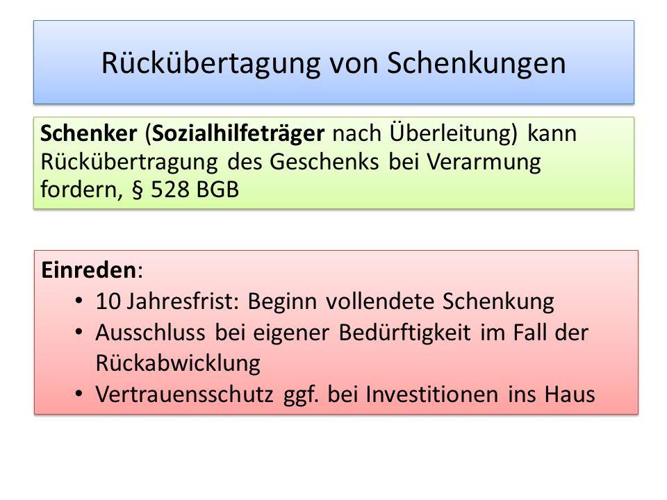 """""""Rückforderung - Haus Der Verwertbarkeit können entgegenstehen: Wohnrechte noch lebender Großeltern Schulden bzw."""