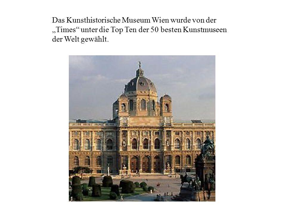 """Das Kunsthistorische Museum Wien wurde von der """"Times"""" unter die Top Ten der 50 besten Kunstmuseen der Welt gewählt."""