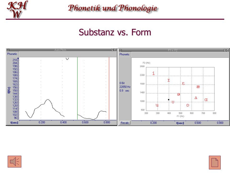 Substanz vs. Form