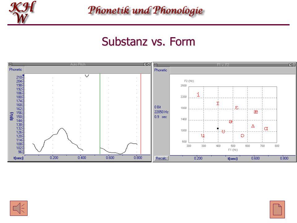 Substanz vs. Form
