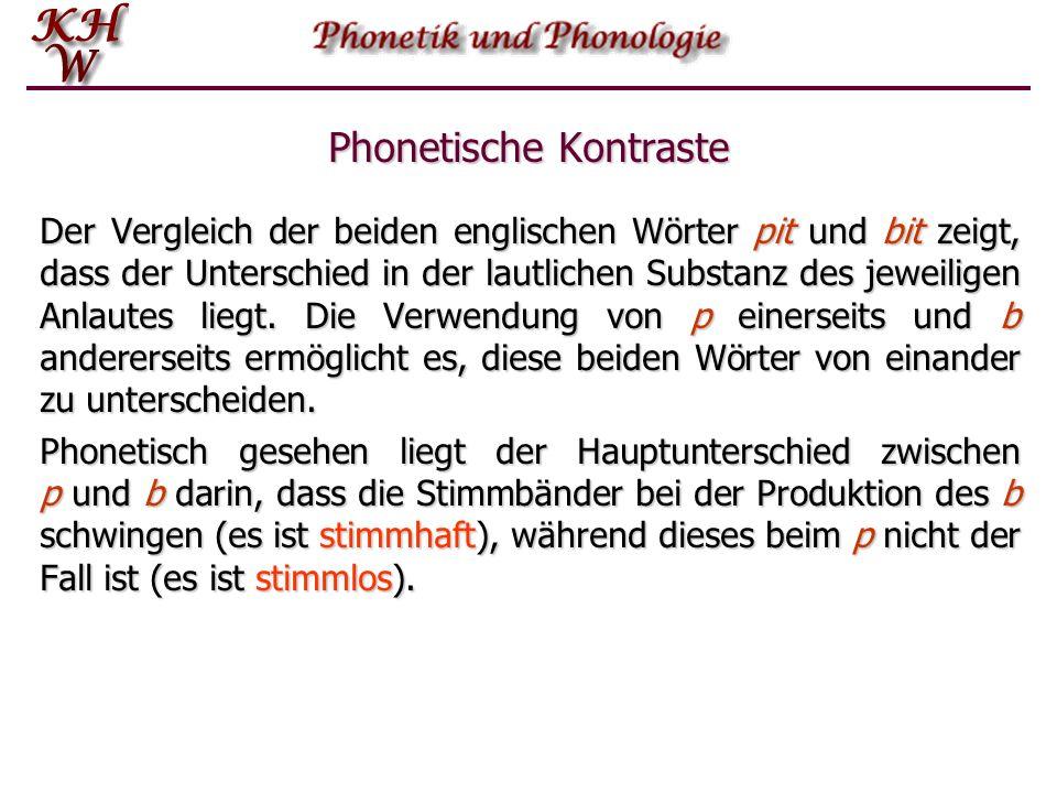 Phonologie = funktionale Phonetik  Die Hauptaufgabe und Funktion von Sprachlauten ist es, der Identifikation linguistischer Einheiten zu dienen.