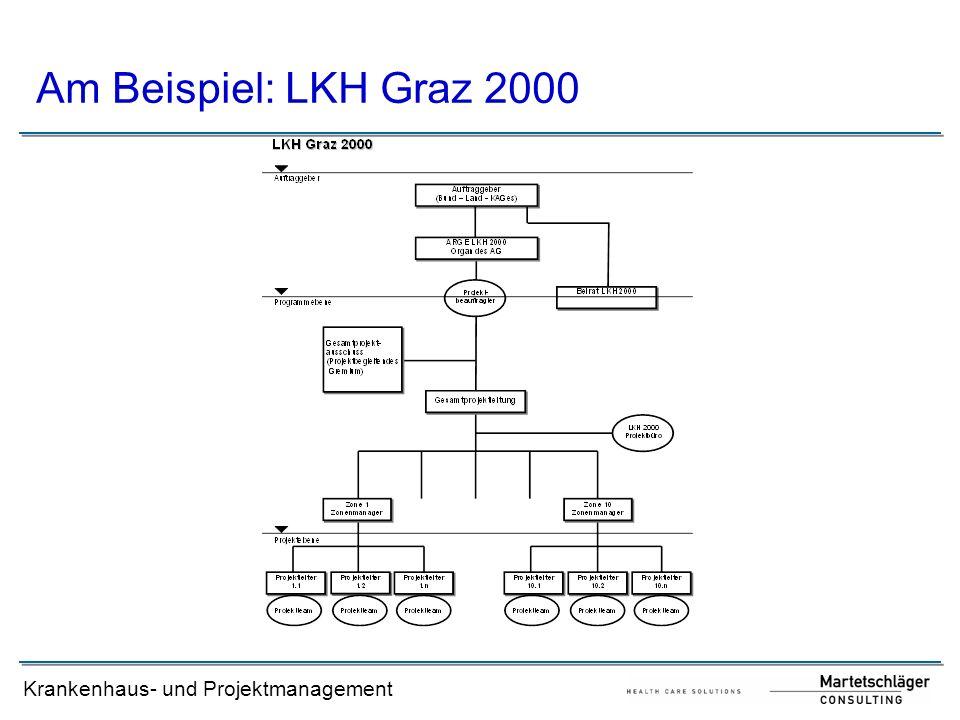 Krankenhaus- und Projektmanagement Am Beispiel: LKH Graz 2000