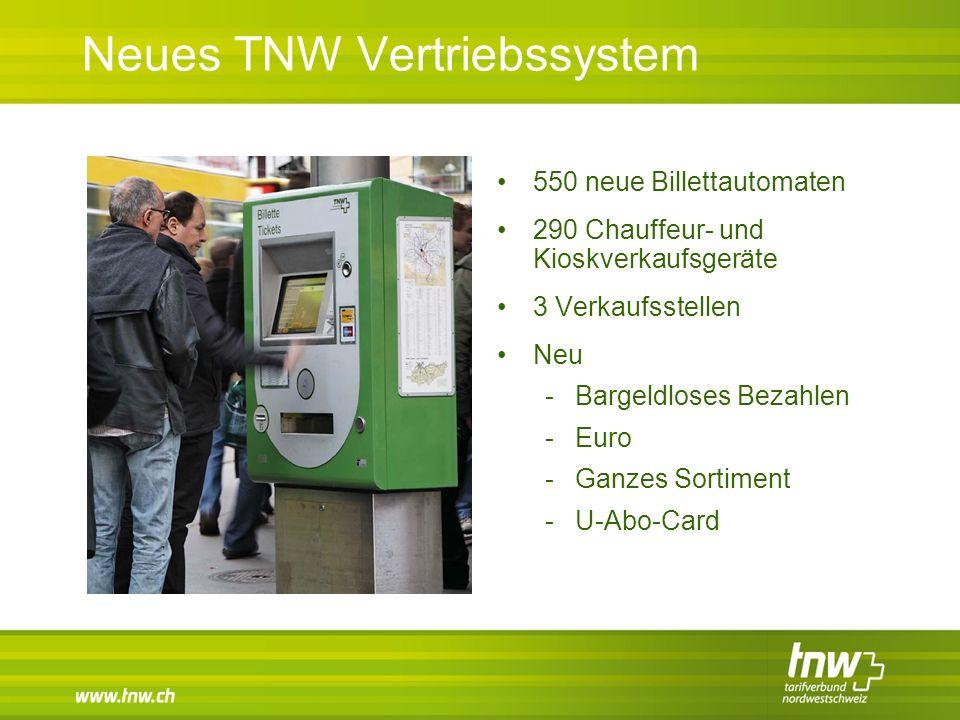 Neues TNW Vertriebssystem 550 neue Billettautomaten 290 Chauffeur- und Kioskverkaufsgeräte 3 Verkaufsstellen Neu -Bargeldloses Bezahlen -Euro -Ganzes