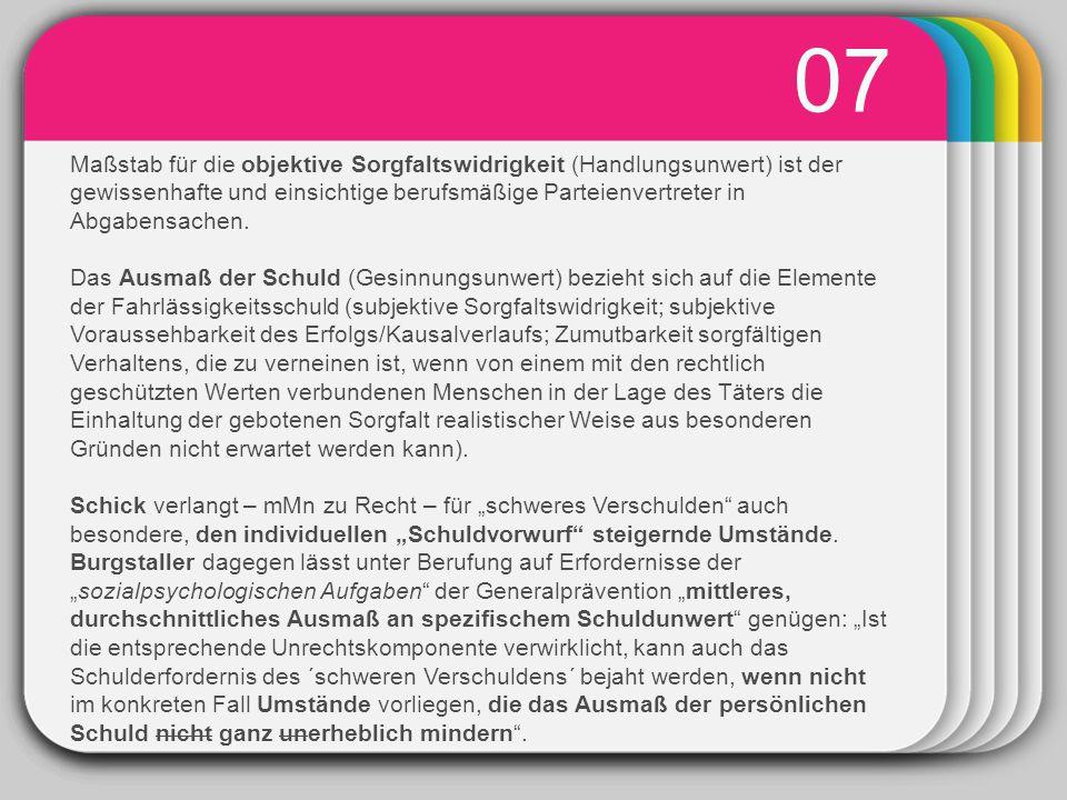 WINTER Template 08 Die Unterscheidung zwischen unbewusster (§ 8 Abs 2 1.