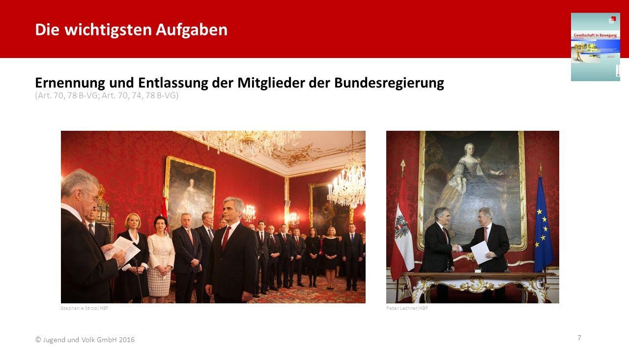 Die wichtigsten Aufgaben Einberufung und Auflösung des Nationalrates © Parlamentsdirektion / Bildagentur Zolles KG / Martin Steiger (Art.