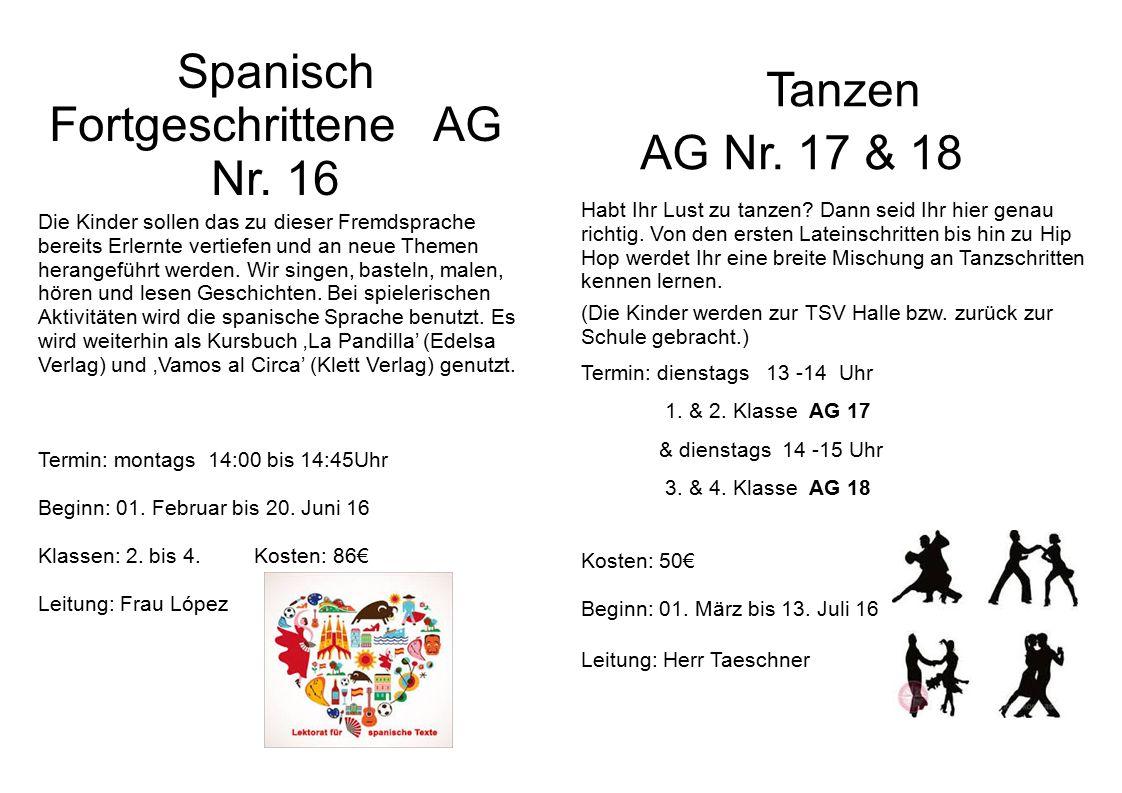 Spanisch Fortgeschrittene AG Nr.