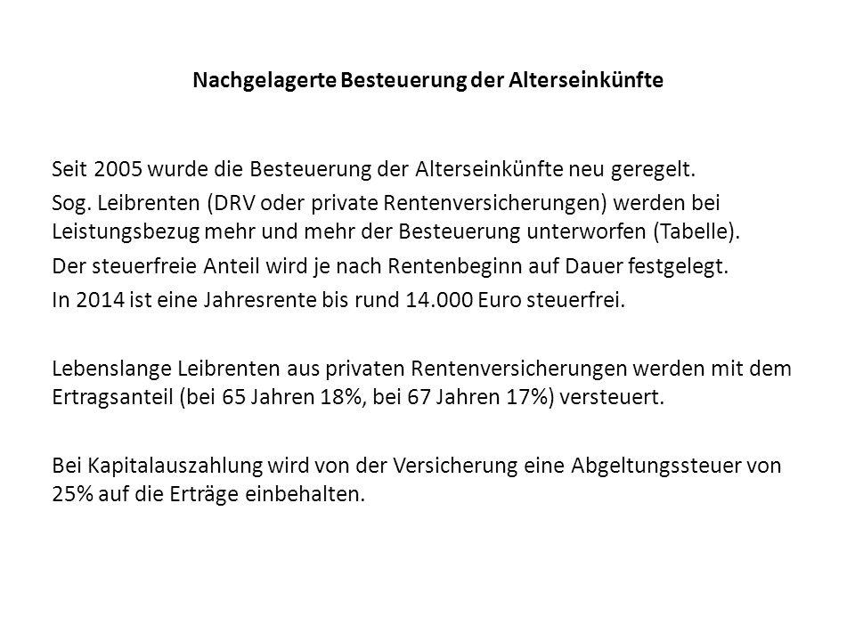 Der Besteuerungsanteil für Renten (§ 22 Nr.1 Satz 3 Bstb.