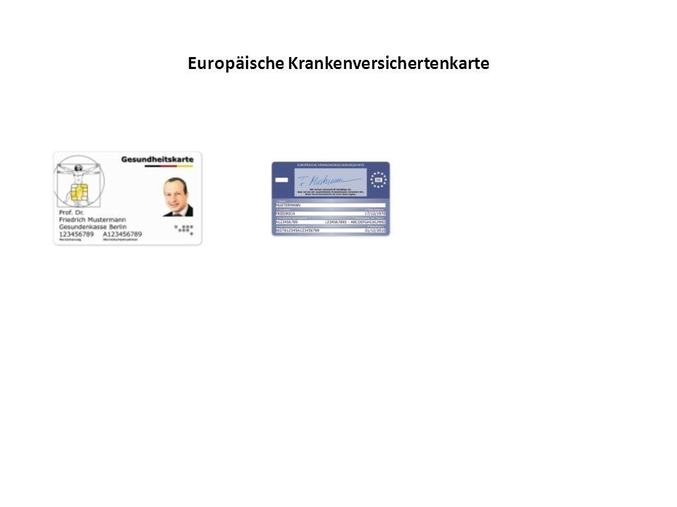 Europäische Krankenversichertenkarte