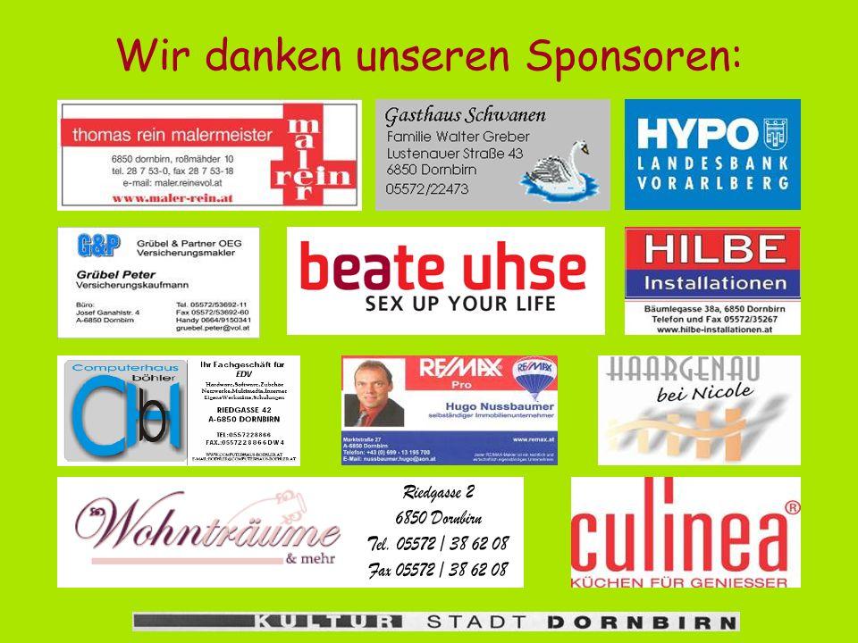 Aufführungen Kartenvorverkauf für alle Aufführungen: Dornbirn Tourismus 05572/22188 Mo bis Fr 9 bis 12 und 13 bis 18 Uhr, Sa 9 bis 12 Uhr oder www.v-t