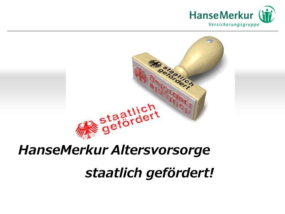 HanseMerkur Altersvorsorge staatlich gefördert!