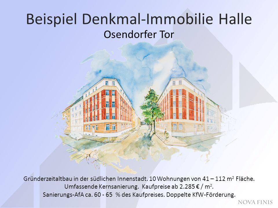 Beispiel Denkmal-Immobilie Halle Osendorfer Tor Gründerzeitaltbau in der südlichen Innenstadt.
