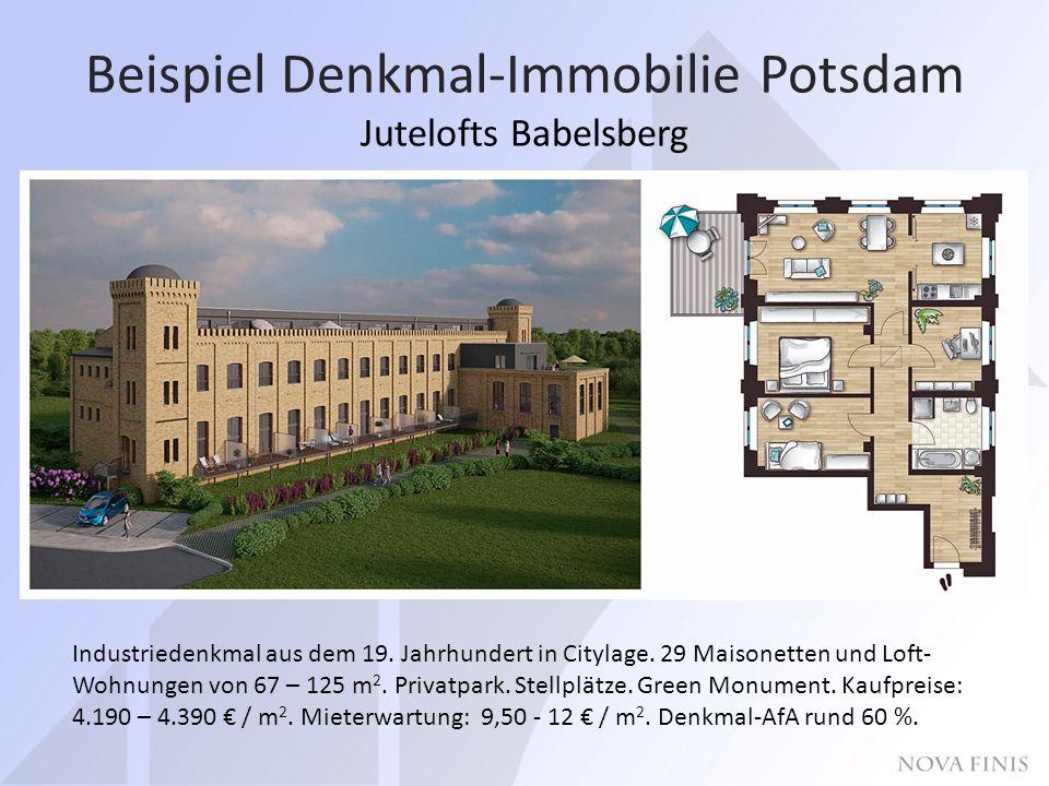 Beispiel Denkmal-Immobilie Potsdam Jutelofts Babelsberg Industriedenkmal aus dem 19.