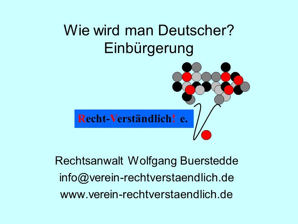 Wie wird man Deutscher.