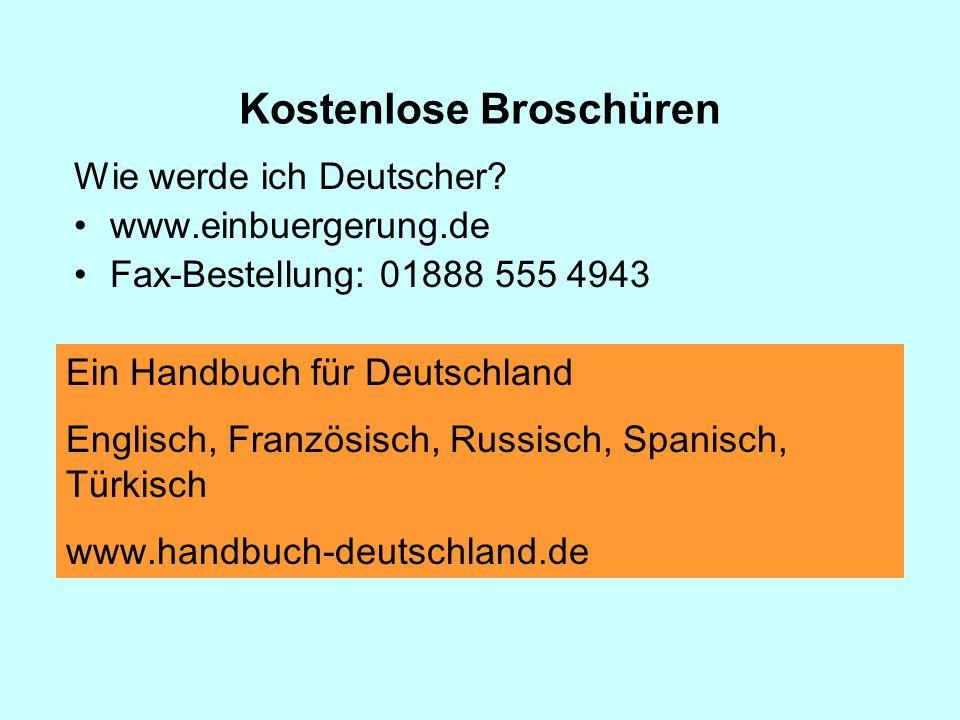 Wie werde ich Deutscher.