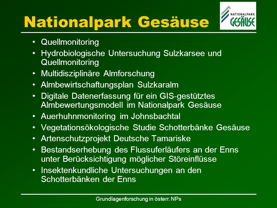 Grundlagenforschung in österr.