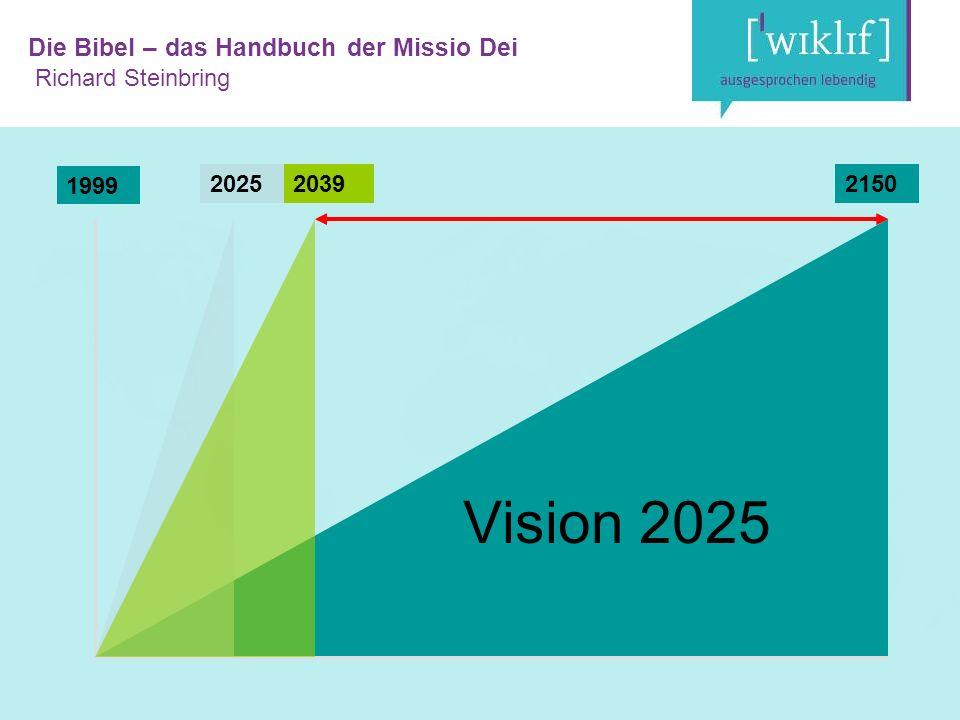 Die Bibel – das Handbuch der Missio Dei Richard Steinbring 2000202521502039 1999 Vision 2025