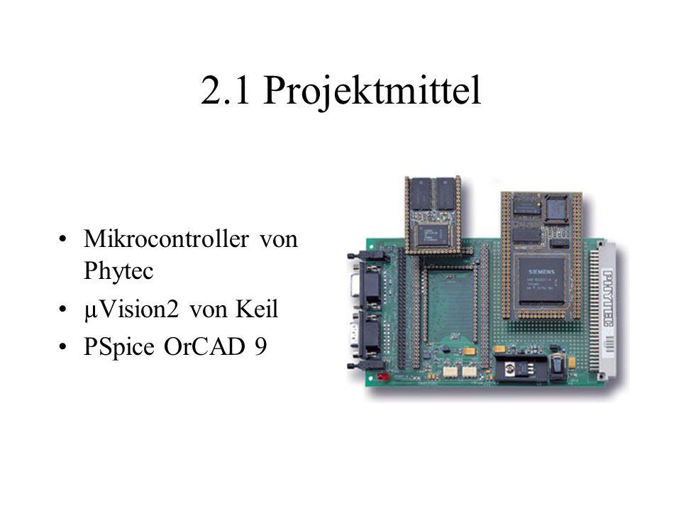Mikrocontroller von Phytec µVision2 von Keil PSpice OrCAD 9 2.1Projektmittel