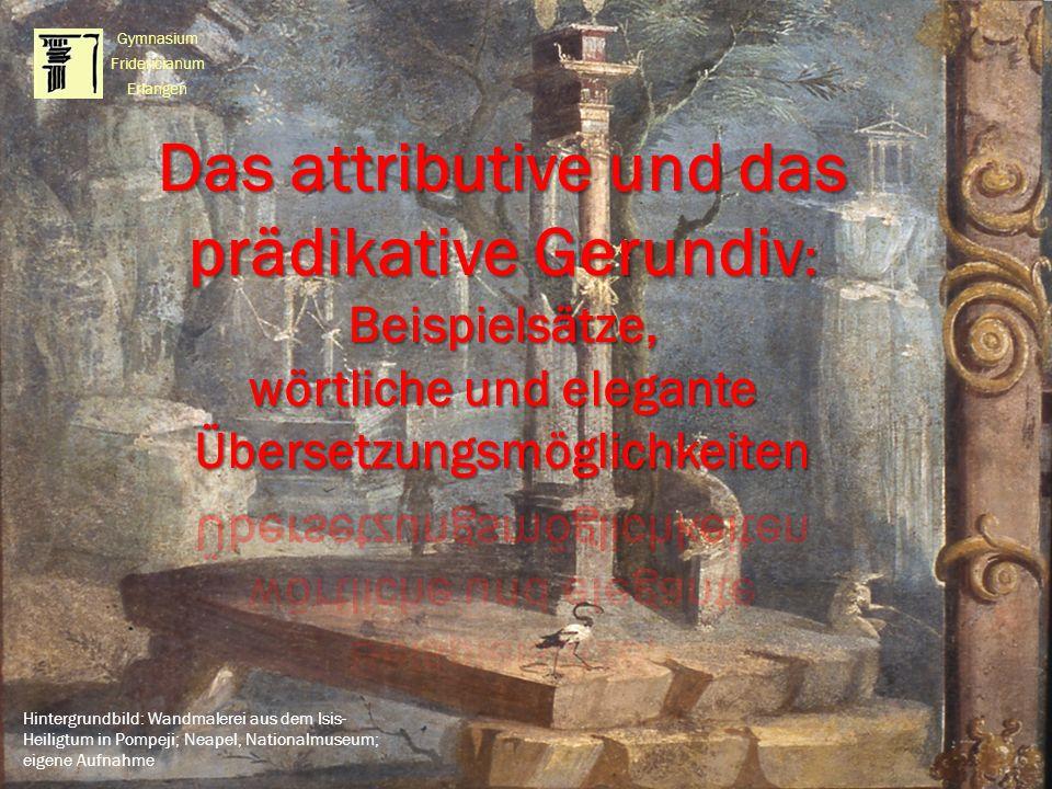 Hintergrundbild: Wandmalerei aus dem Isis- Heiligtum in Pompeji; Neapel, Nationalmuseum; eigene Aufnahme Gymnasium Fridericianum Erlangen