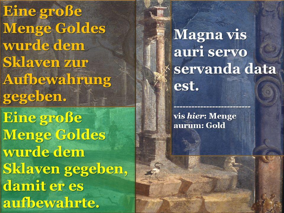 Magna vis auri servo servanda data est.