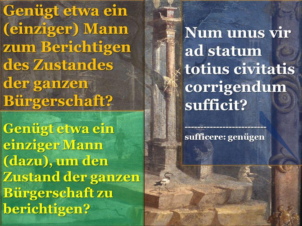 Num unus vir ad statum totius civitatis corrigendum sufficit.