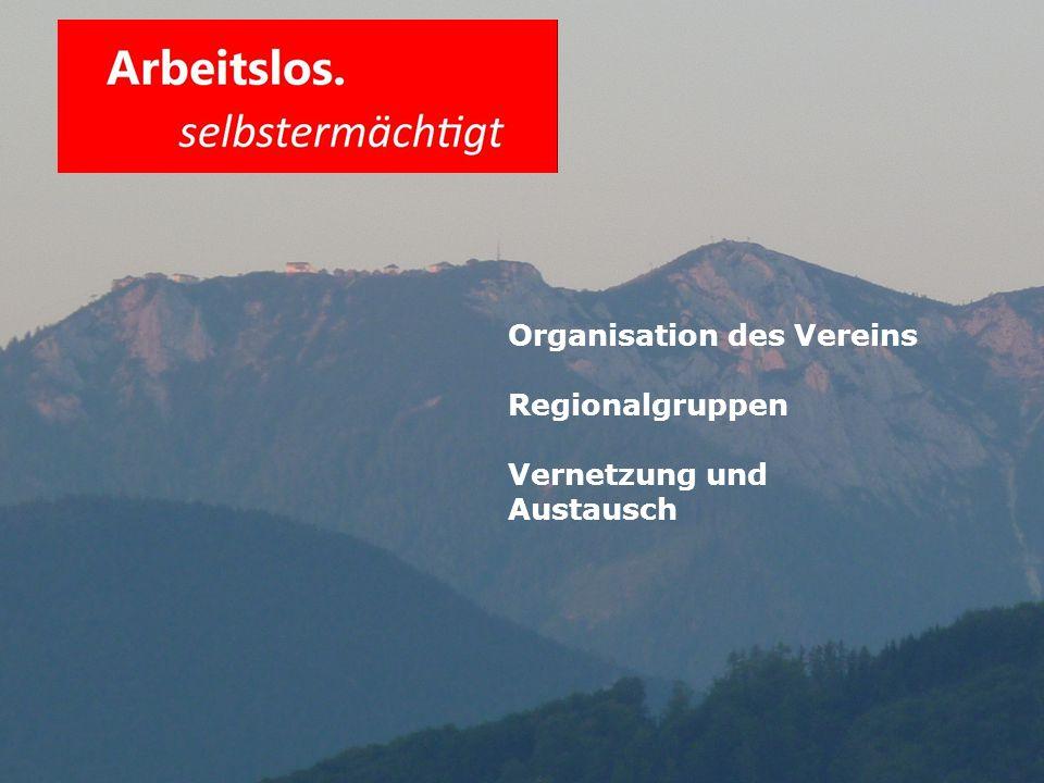 Organisation des Vereins Regionalgruppen Vernetzung und Austausch