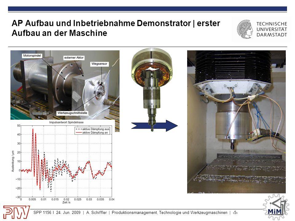SPP 1156 I 24. Jun. 2009 | A. Schiffler | Produktionsmanagement, Technologie und Werkzeugmaschinen | ‹5› AP Aufbau und Inbetriebnahme Demonstrator | e
