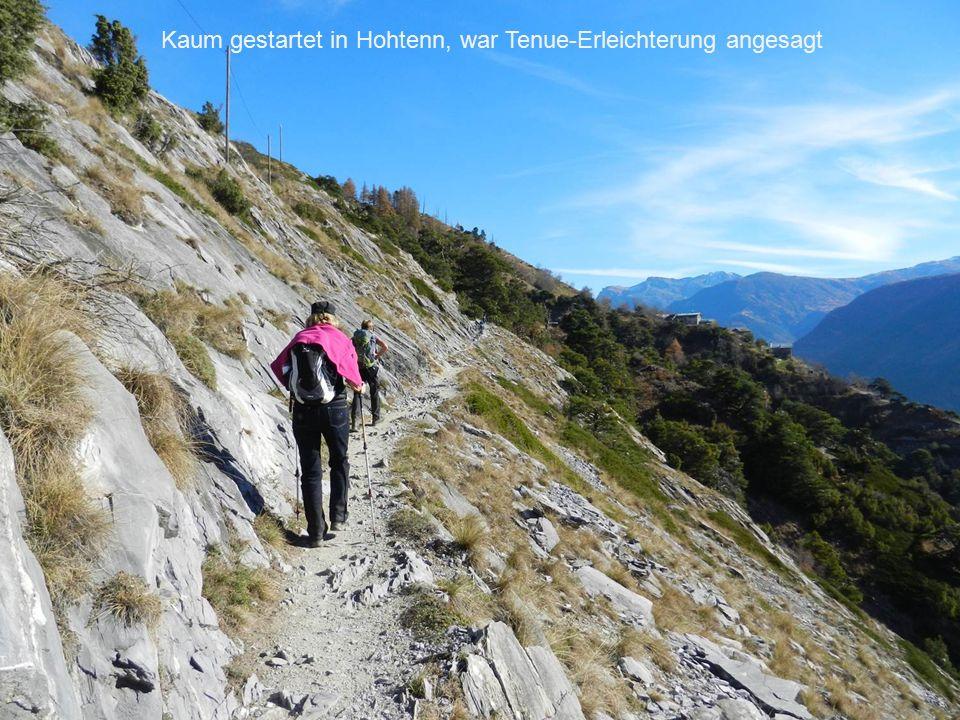 Kaum gestartet in Hohtenn, war Tenue-Erleichterung angesagt