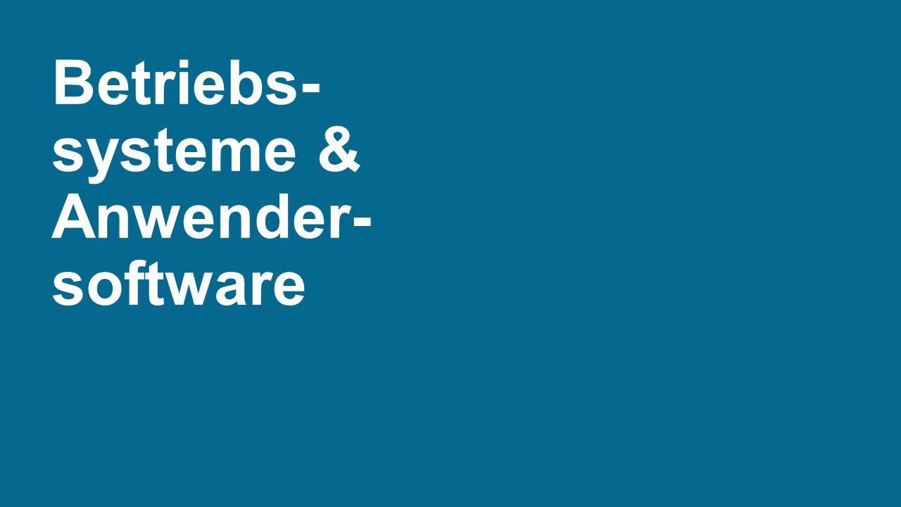 Betriebs- systeme & Anwender- software