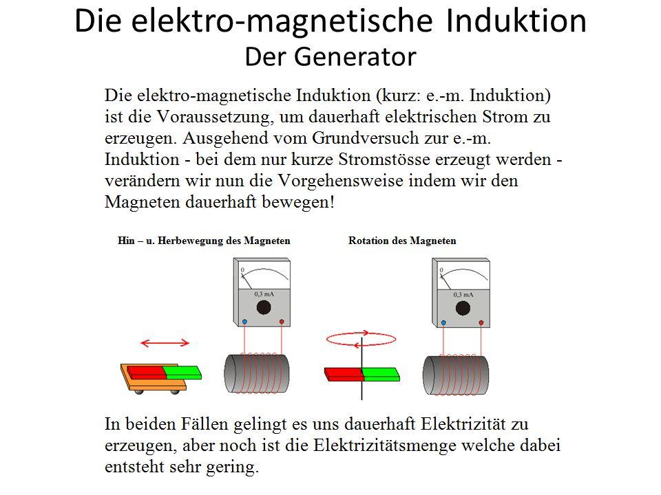 Die elektro-magnetische Induktion Der Generator Der Polwender macht aus Wechselstrom pulsierenden Gleichstrom!
