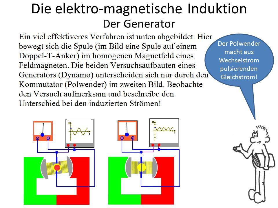 Die elektro-magnetische Induktion Aha.