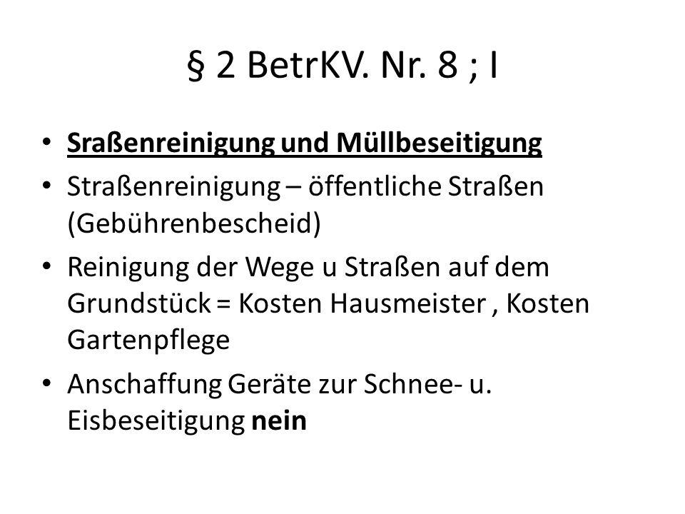 § 2 BetrKV.Nr.