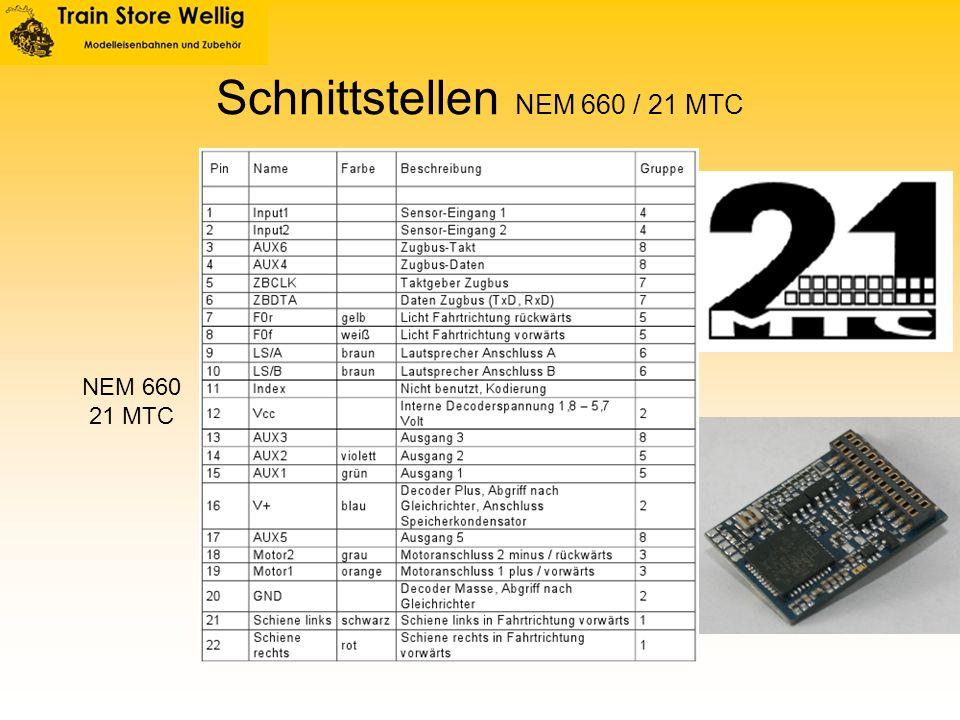 Schnittstellen NEM 660 / 21 MTC NEM 660 21 MTC