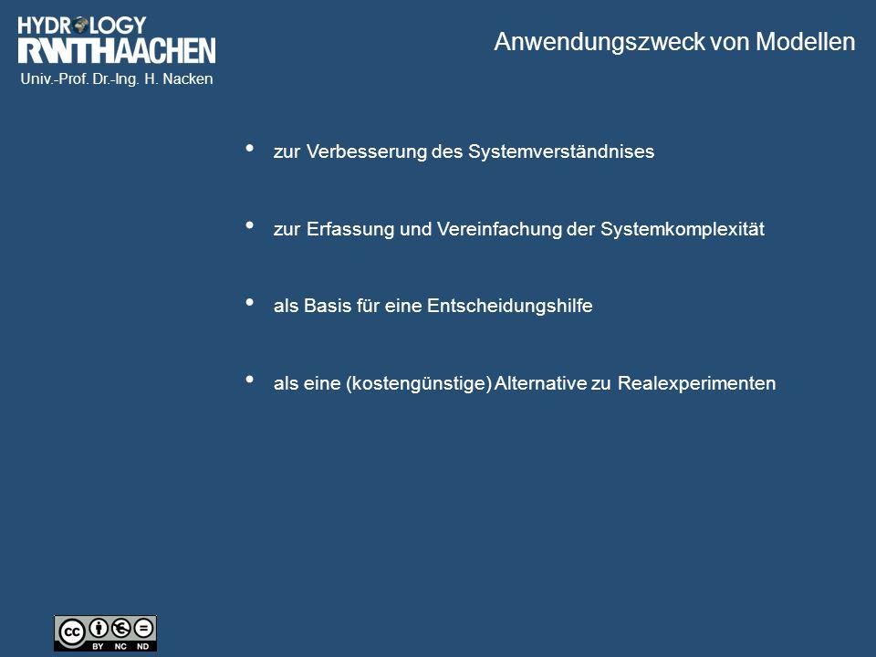 Univ.-Prof. Dr.-Ing. H. Nacken zur Erfassung und Vereinfachung der Systemkomplexität zur Verbesserung des Systemverständnises als eine (kostengünstige