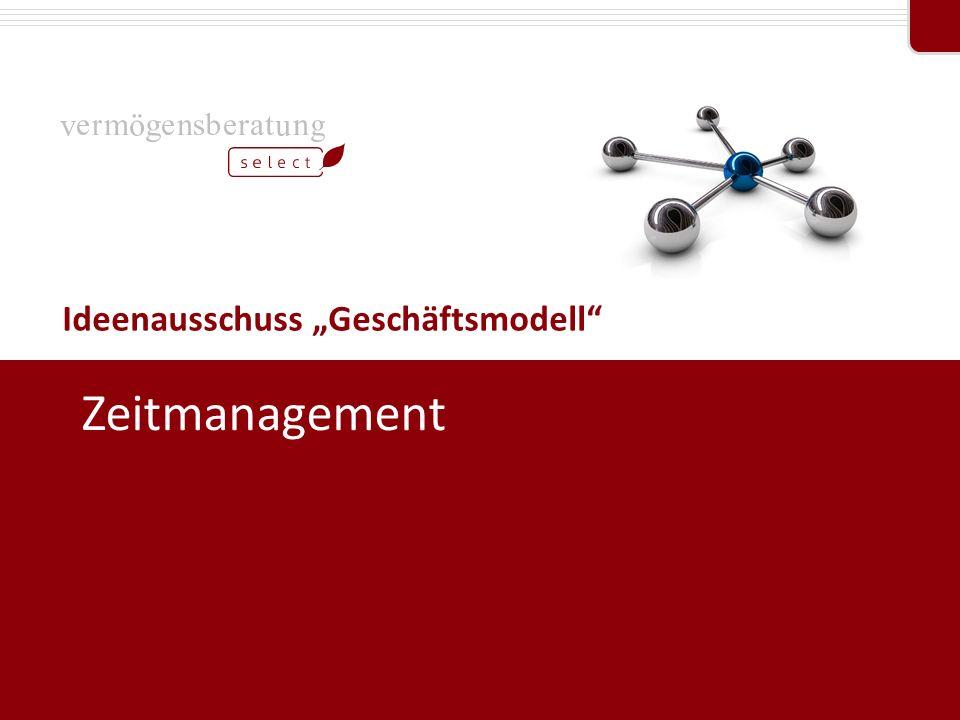"""Professional Partner von Ideenausschuss """"Geschäftsmodell"""" Zeitmanagement"""