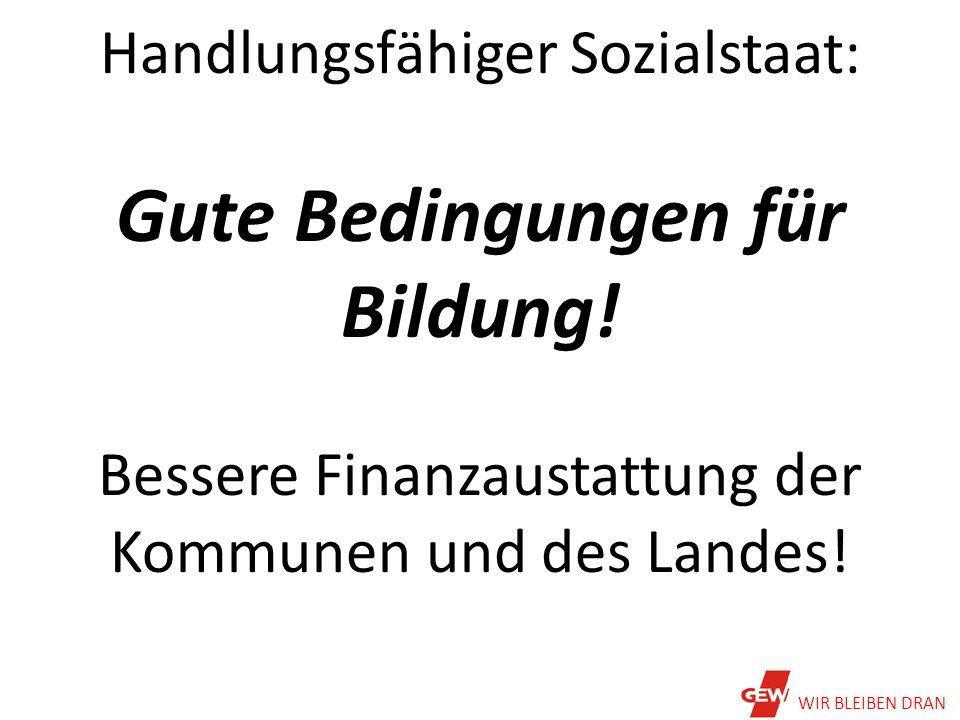Beamtenbesoldung in Hessen im Vergleich der Bundesländer WIR BLEIBEN DRAN