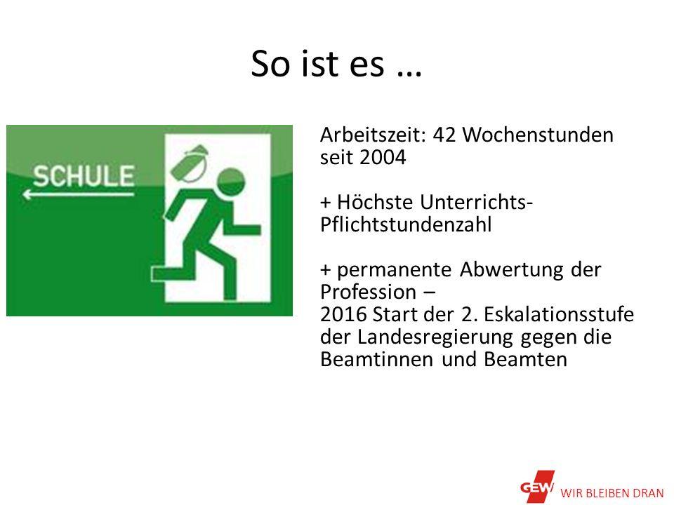 Öffentliche Beschäftigung 2001-2011 DGB Hessen/Thüringen, Kai Eicker-Wolff, Mai 2015, WIR BLEIBEN DRAN