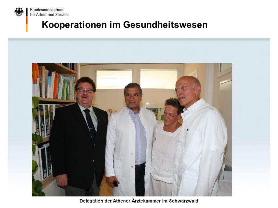 Delegation der Athener Ärztekammer im Schwarzwald Kooperationen im Gesundheitswesen