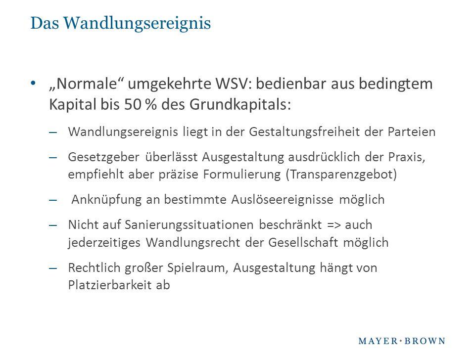 "Das Wandlungsereignis ""Sanierungs-WSV nach § 192 Abs."