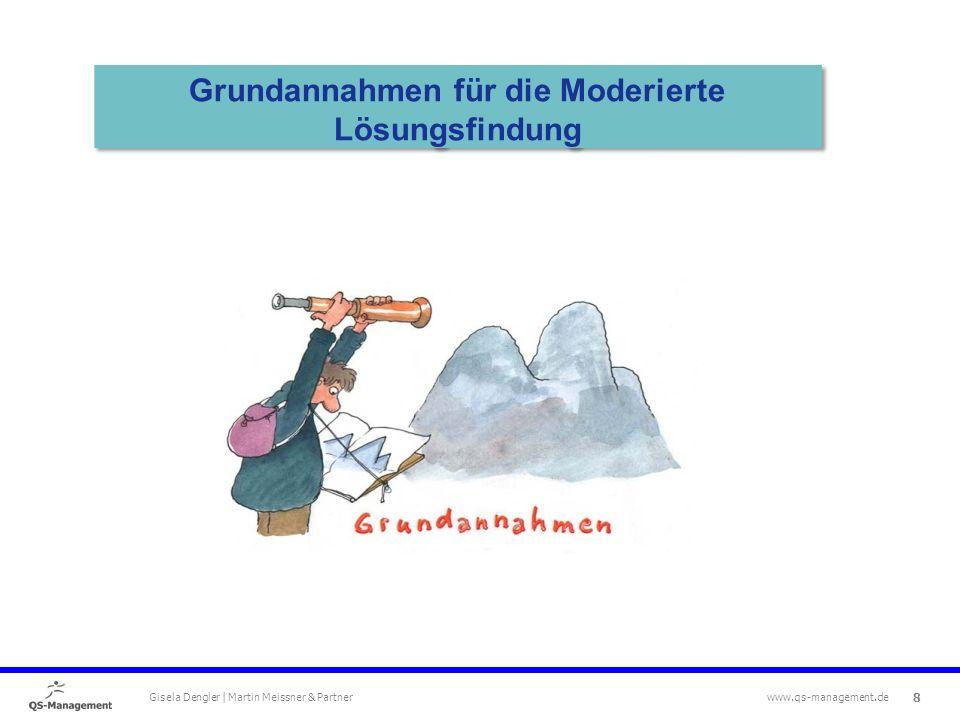 8 Gisela Dengler | Martin Meissner & Partner www.qs-management.de Grundannahmen für die Moderierte Lösungsfindung