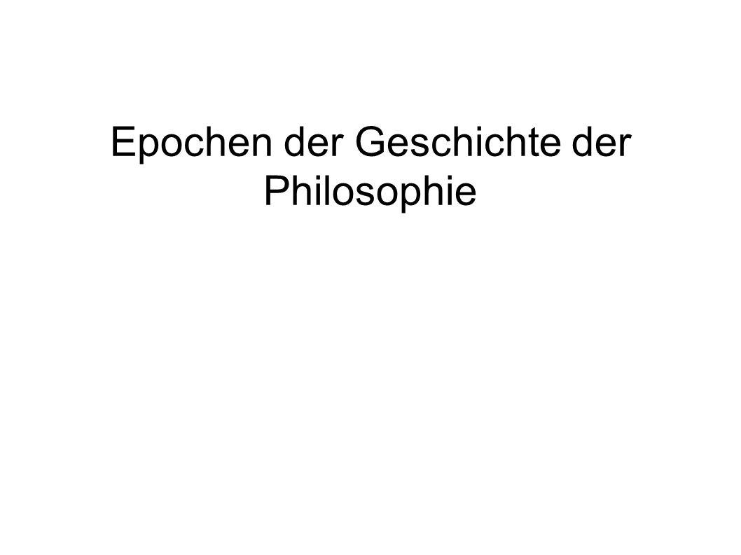 Epochen der Geschichte der Philosophie