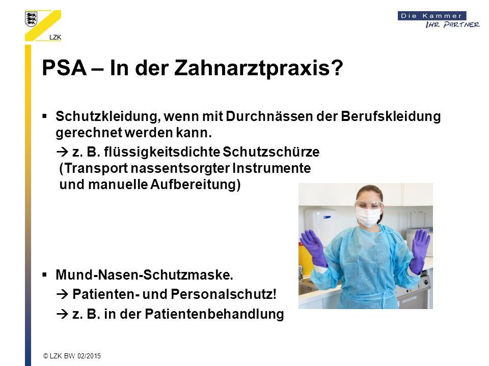 PSA – In der Zahnarztpraxis.