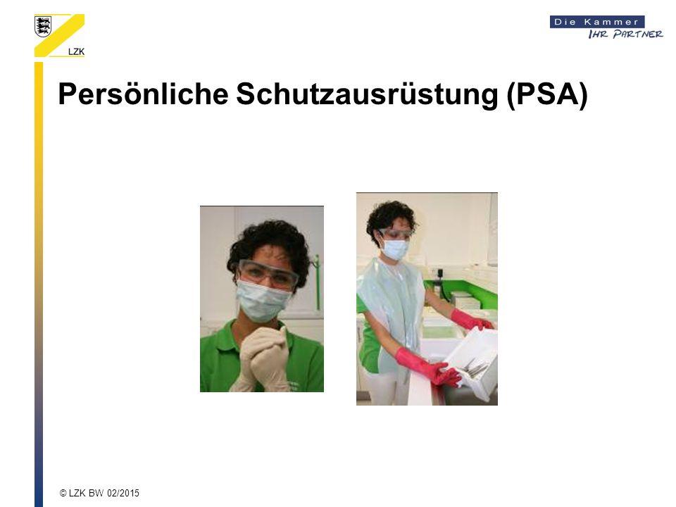 Persönliche Schutzausrüstung (PSA) © LZK BW 02/2015