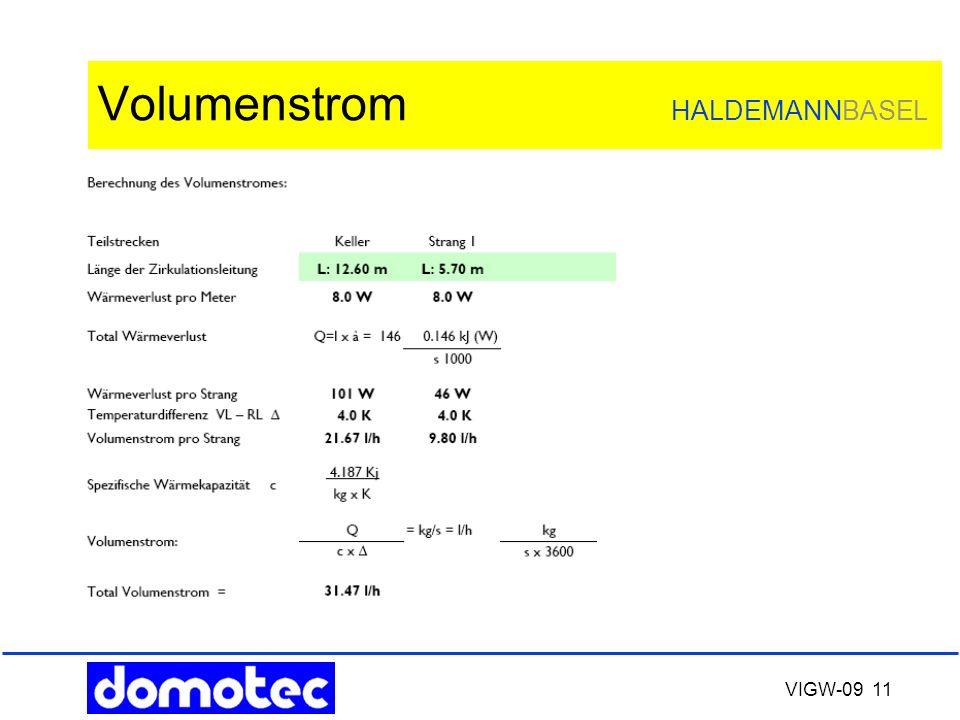 VIGW-09 11 Volumenstrom HALDEMANNBASEL