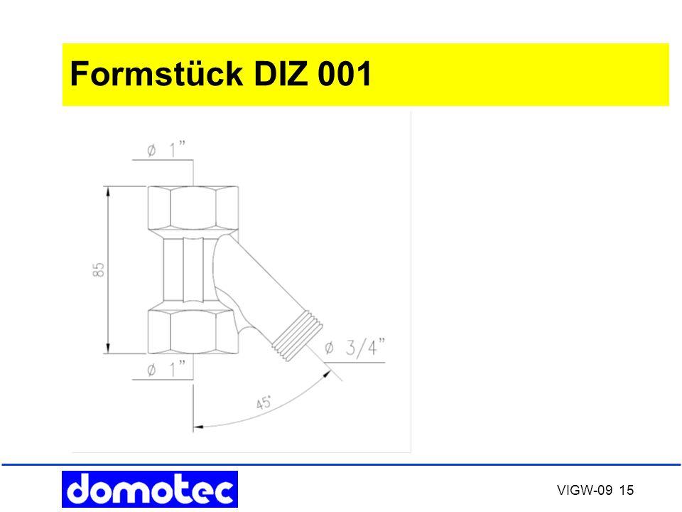 VIGW-09 15 Formstück DIZ 001