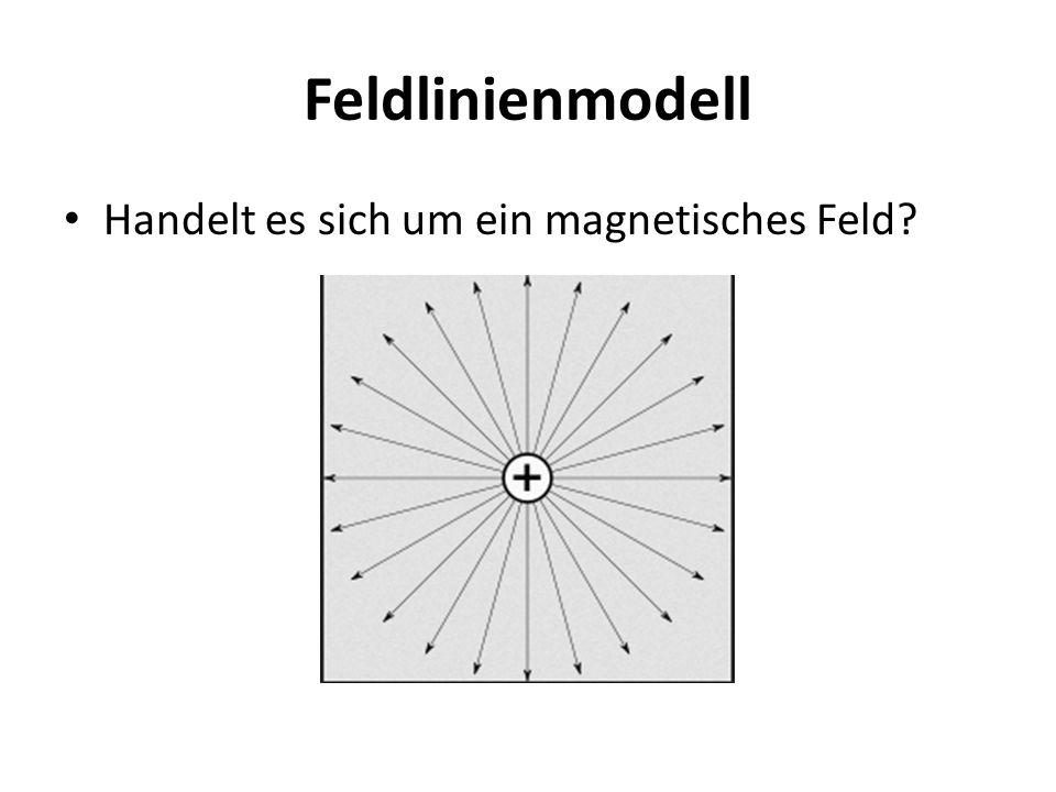 Feldlinienmodell Handelt es sich um ein magnetisches Feld?