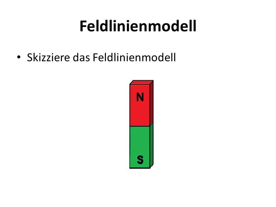 Feldlinienmodell Skizziere das Feldlinienmodell