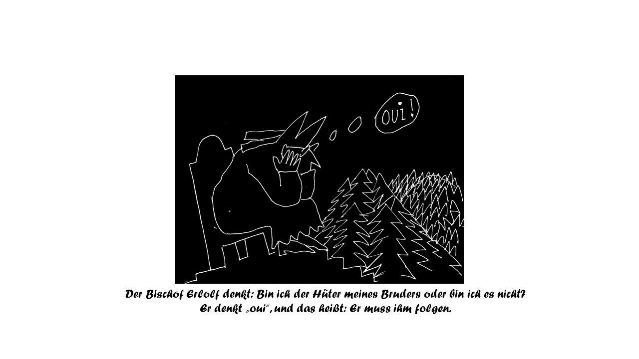 Erlolf und Hariolf sind unterwegs in den Wäldern.
