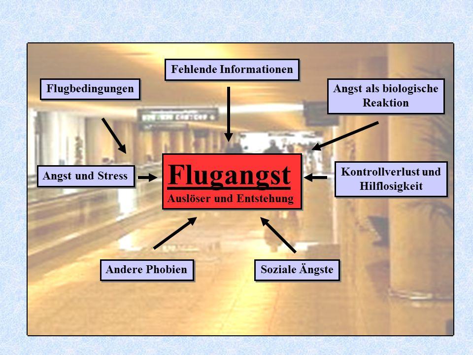 Flugangst Auslöser und Entstehung Flugangst Auslöser und Entstehung Angst und Stress Flugbedingungen Fehlende Informationen Angst als biologische Reak